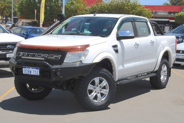 Used Ford Ranger PX XLT Double Cab Midland, 2012 Ford Ranger PX XLT Double Cab White 6 Speed Manual Utility