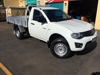2013 Mitsubishi Triton MN MY14 Update GL White 5 Speed Manual Cab Chassis.