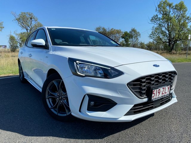Used Ford Focus SA 2019.75MY ST-Line Emerald, 2019 Ford Focus SA 2019.75MY ST-Line Frozen White 8 Speed Automatic Hatchback
