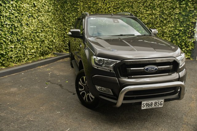Used Ford Ranger PX MkII 2018.00MY Wildtrak Double Cab St Marys, 2017 Ford Ranger PX MkII 2018.00MY Wildtrak Double Cab Grey 6 Speed Sports Automatic Utility