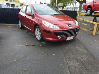 2006 Peugeot 307 T6 XS Red 4 Speed Sports Automatic Hatchback.