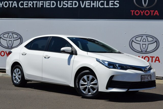 Pre-Owned Toyota Corolla ZRE172R MY17 Ascent Warwick, 2017 Toyota Corolla ZRE172R MY17 Ascent Glacier White 7 Speed CVT Auto Sequential Sedan