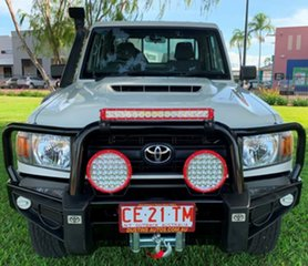 2017 Toyota Landcruiser VDJ79R Workmate White 5 Speed Manual Cab Chassis