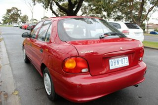 1996 Hyundai Excel X3 LX Red 4 Speed Automatic Sedan