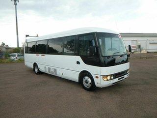 2006 Mitsubishi Rosa White Passenger Bus.