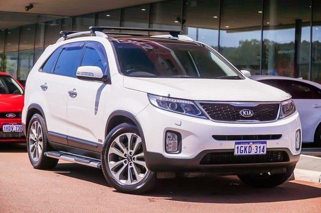 Used Kia Sorento XM MY14 Platinum 4WD Gosnells, 2014 Kia Sorento XM MY14 Platinum 4WD White 6 Speed Sports Automatic Wagon
