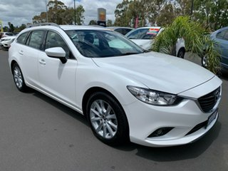 2013 Mazda 6 GJ1031 Touring SKYACTIV-Drive White 6 Speed Sports Automatic Wagon.