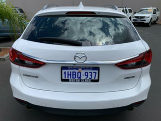 2013 Mazda 6 GJ1031 Touring SKYACTIV-Drive White 6 Speed Sports Automatic Wagon.
