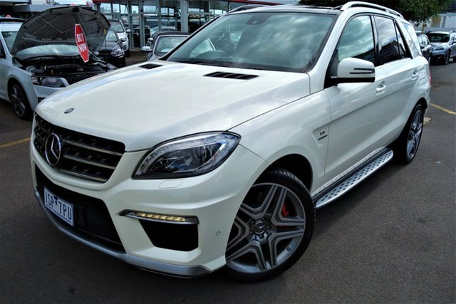Used Mercedes-Benz M-Class W166 ML63 AMG SPEEDSHIFT DCT Seaford, 2013 Mercedes-Benz M-Class W166 ML63 AMG SPEEDSHIFT DCT White 7 Speed Sports Automatic Dual Clutch