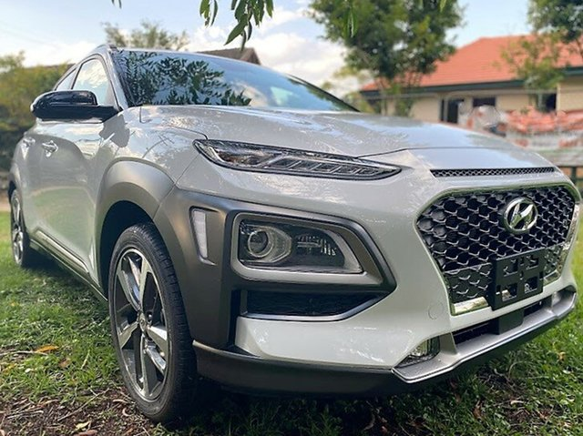 New Hyundai Kona OS.3 MY20 Highlander 2WD Mount Gravatt, 2020 Hyundai Kona OS.3 MY20 Highlander 2WD Chalk White Black Roof 6 Speed Sports Automatic Wagon