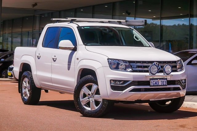 Used Volkswagen Amarok 2H MY18 TDI550 4MOTION Perm Highline Gosnells, 2018 Volkswagen Amarok 2H MY18 TDI550 4MOTION Perm Highline White 8 Speed Automatic Utility