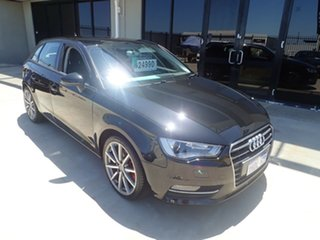 2015 Audi A3 8V MY16 Ambition S Tronic Black Magic 7 Speed Sports Automatic Dual Clutch Sedan.