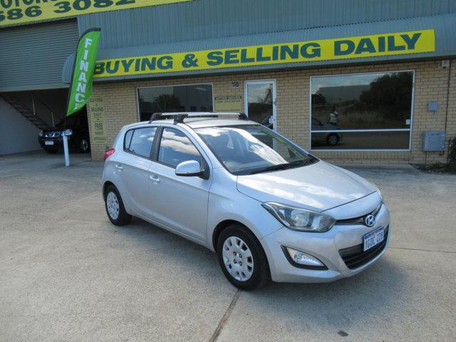 Used Hyundai i20 PB Active Mandurah, 2012 Hyundai i20 PB Active Silver 6 Speed Manual Hatchback