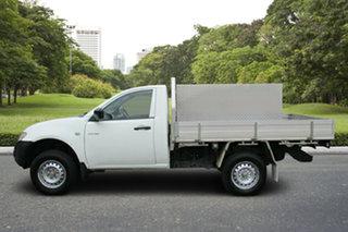 2013 Mitsubishi Triton MN MY14 GL 4x2 White 5 Speed Manual Cab Chassis.