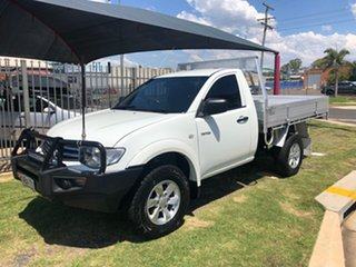2014 Mitsubishi Triton MN MY15 GLX (4x4) White 5 Speed Manual 4x4 Cab Chassis.