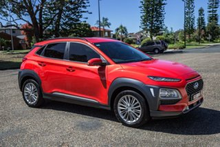2017 Hyundai Kona OS MY18 Elite 2WD Tangerine Comet 6 Speed Sports Automatic Wagon.