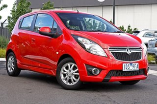 2014 Holden Barina Spark MJ MY15 CD Red 4 Speed Automatic Hatchback.