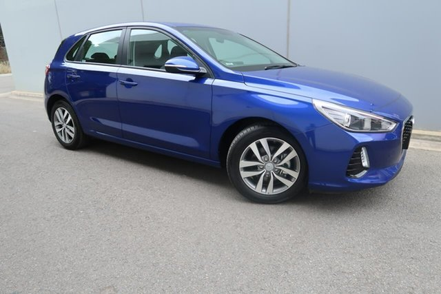 Used Hyundai i30 PD2 MY19 Active Reynella, 2019 Hyundai i30 PD2 MY19 Active Blue 6 Speed Sports Automatic Hatchback