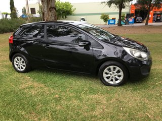2011 Kia Rio UB MY12 S Black/Grey 4 Speed Sports Automatic Hatchback.