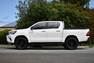 2015 Toyota Hilux GUN126R SR Double Cab White 6 Speed Sports Automatic Utility.
