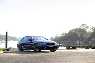 2018 BMW M5 F90 Launch Edition M Steptronic M xDrive Blue 8 Speed Sports Automatic Sedan