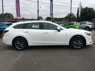 2018 Mazda 6 GL1032 Sport SKYACTIV-Drive White 6 Speed Sports Automatic Wagon.