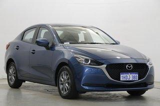 2020 Mazda 2 DL2SAA G15 SKYACTIV-Drive Pure Blue 6 Speed Sports Automatic Sedan