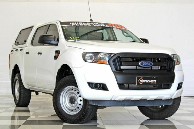Used Ford Ranger PX MkII XL 2.2 Hi-Rider (4x2) Burleigh Heads, 2015 Ford Ranger PX MkII XL 2.2 Hi-Rider (4x2) White 6 Speed Automatic Crew Cab Pickup