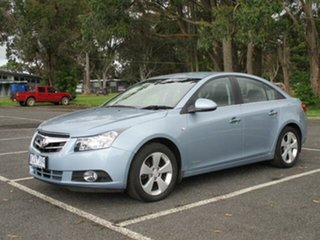 2010 Holden Cruze JG CDX Iced Blue 6 Speed Automatic Sedan.
