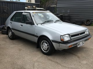 1988 Mitsubishi Colt RE GLX Silver 3 Speed Automatic Hatchback.