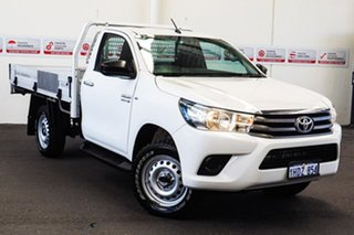 2015 Toyota Hilux GUN126R SR Glacier White 6 Speed Manual Cab Chassis.