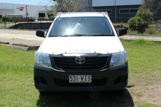 2014 Toyota Hilux TGN16R MY14 Workmate 4x2 White 4 Speed Automatic Cab Chassis.