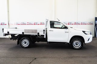 2015 Toyota Hilux GUN126R SR Glacier White 6 Speed Manual Cab Chassis