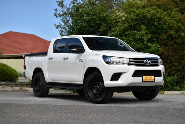 Used Toyota Hilux GUN126R SR Double Cab Melrose Park, 2015 Toyota Hilux GUN126R SR Double Cab White 6 Speed Sports Automatic Utility