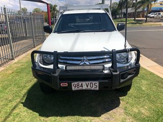 2014 Mitsubishi Triton MN MY15 GLX (4x4) White 5 Speed Manual 4x4 Cab Chassis