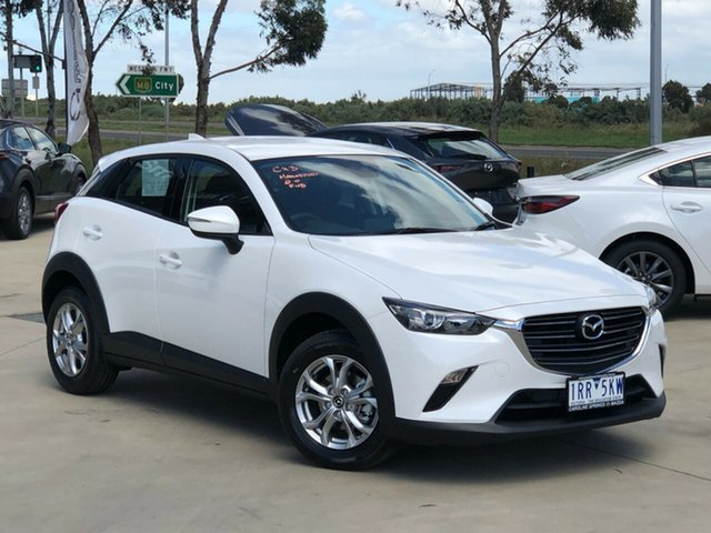 Demo Mazda CX-3 DK2W7A Maxx SKYACTIV-Drive FWD Sport Ravenhall, 2020 Mazda CX-3 DK2W7A Maxx SKYACTIV-Drive FWD Sport Snowflake White Pearl 6 Speed Sports Automatic