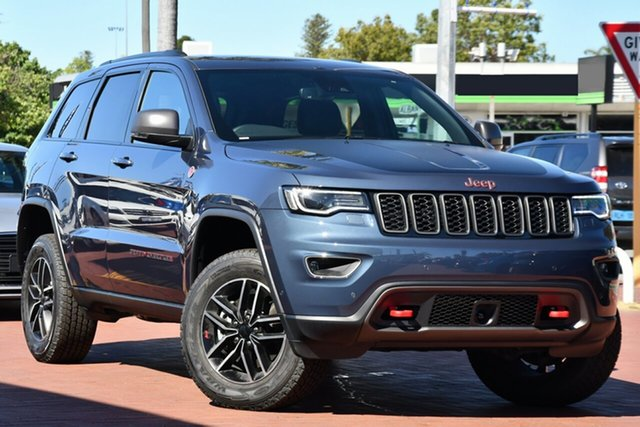 Used Jeep Grand Cherokee WK MY20 Trailhawk Victoria Park, 2020 Jeep Grand Cherokee WK MY20 Trailhawk Slate Blue 8 Speed Sports Automatic Wagon