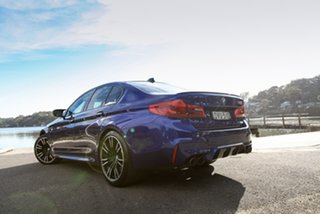 2018 BMW M5 F90 Launch Edition M Steptronic M xDrive Blue 8 Speed Sports Automatic Sedan.