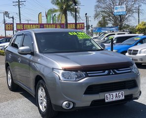 2012 Mitsubishi Outlander ZH MY12 LS 2WD Grey 6 Speed Constant Variable Wagon.