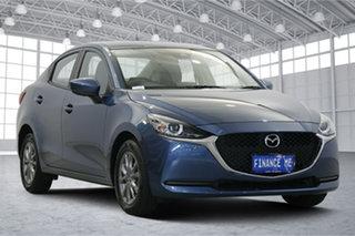 2020 Mazda 2 DL2SAA G15 SKYACTIV-Drive Pure Blue 6 Speed Sports Automatic Sedan.