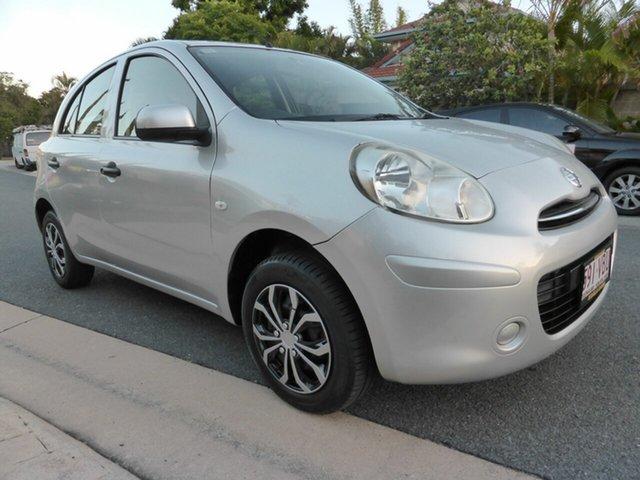 Used Nissan Micra K13 ST Southport, 2012 Nissan Micra K13 ST Silver 4 Speed Automatic Hatchback
