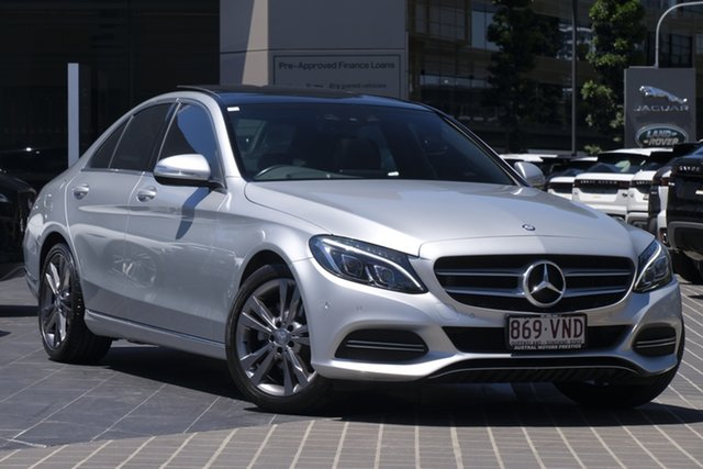 Used Mercedes-Benz C-Class W205 C200 7G-Tronic + Newstead, 2014 Mercedes-Benz C-Class W205 C200 7G-Tronic + Silver 7 Speed Sports Automatic Sedan