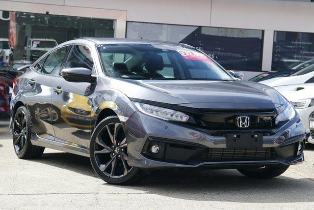 Used Honda Civic 10th Gen MY19 RS Homebush, 2019 Honda Civic 10th Gen MY19 RS Modern Steel 1 Speed Constant Variable Sedan
