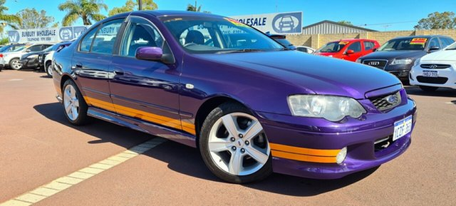 Used Ford Falcon BA XR6 East Bunbury, 2004 Ford Falcon BA XR6 Purple 4 Speed Sports Automatic Sedan