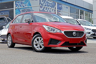 2020 MG MG3 SZP1 MY20 Core Red 4 Speed Automatic Hatchback.