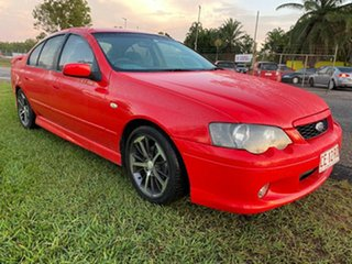2005 Ford Falcon BA Mk II XR6 Red 4 Speed Sports Automatic Sedan.
