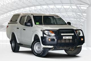 2016 Mitsubishi Triton MQ MY16 GLX (4x4) White 5 Speed Automatic Dual Cab Chassis.