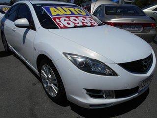 2008 Mazda 6 GH1051 Luxury White 5 Speed Sports Automatic Sedan.