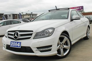 2014 Mercedes-Benz C-Class C204 C180 7G-Tronic + Avantgarde White 7 Speed Sports Automatic Coupe.