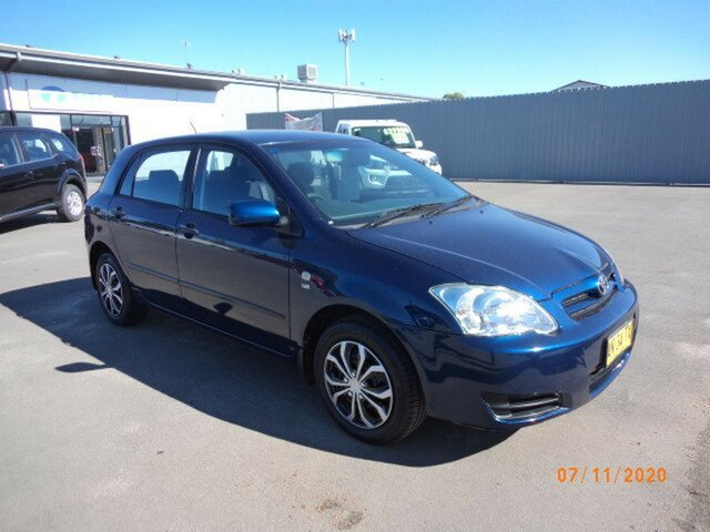 Used Toyota Corolla ZZE122R MY06 Conquest Seca Wagga Wagga, 2006 Toyota Corolla ZZE122R MY06 Conquest Seca Blue Metallic 4 Speed Automatic Hatchback